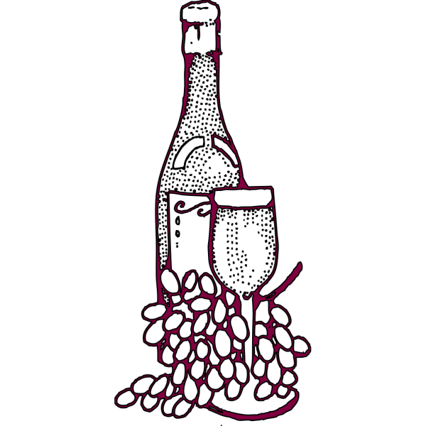 Purple Wine And Glass PNG Clip art