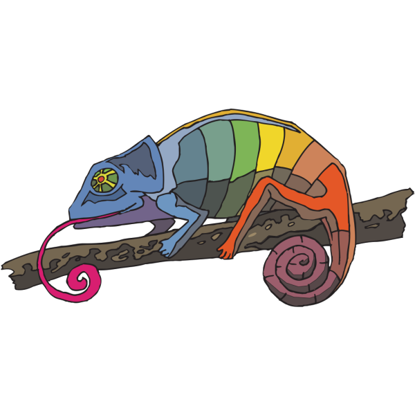 Rainbow Chameleon PNG images
