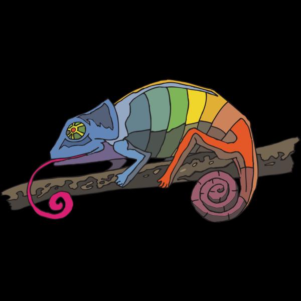 Rainbow Chameleon PNG Clip art