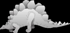 Silver Stegosaurus PNG Clip art