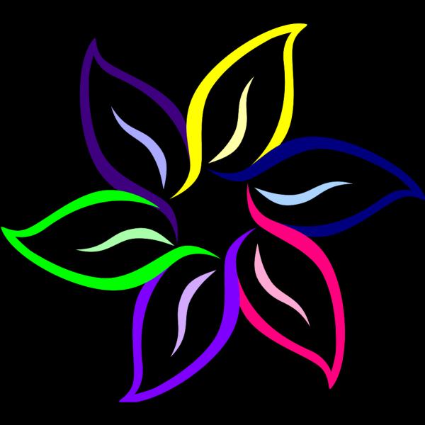 Multi-color Flower PNG Clip art