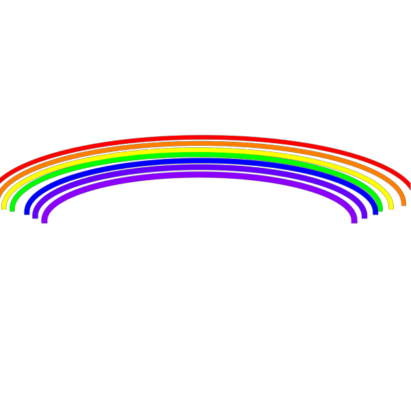 Long Rainbow PNG Clip art