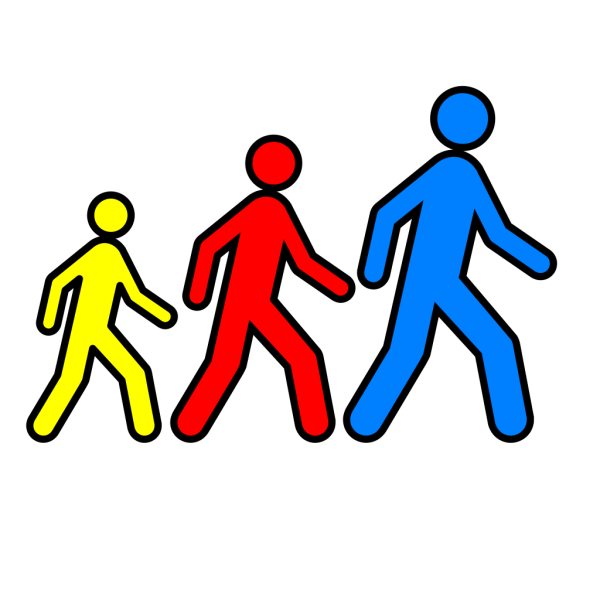 Walking Man Colors 2 PNG Clip art