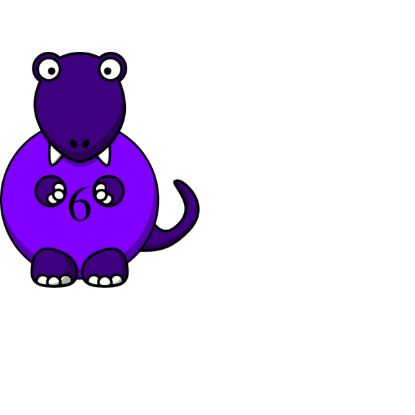 Yellow And Purple Dinosaur PNG Clip art