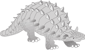 Gray Ankylosaurus PNG Clip art