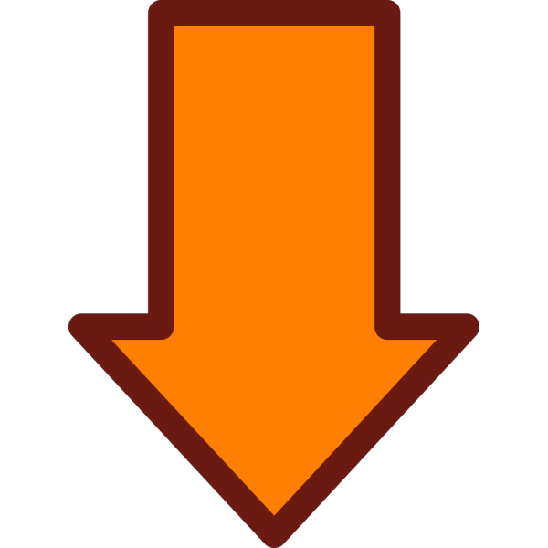 Orange Arrow Up PNG Clip art