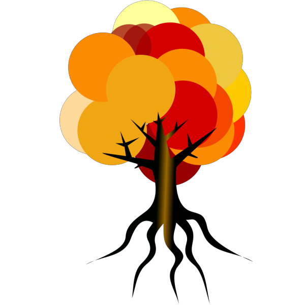 Colorful Tree Fall  PNG Clip art
