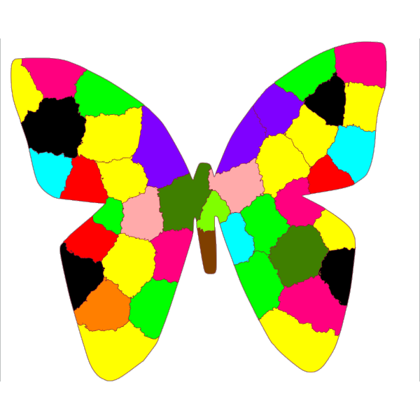 Rainbow Butterfly PNG Clip art