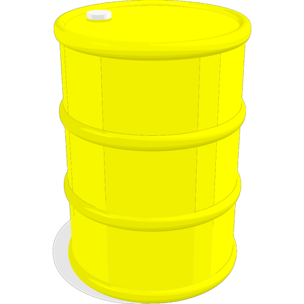 Oil Barrel Black And Yellow PNG Clip art