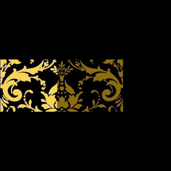 Golden Damask PNG Clip art