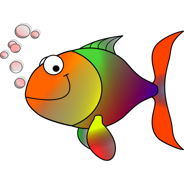 Happy Rainbow Fish PNG Clip art