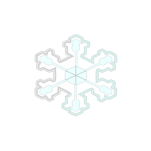 Big Amazing Snow Flake PNG Clip art