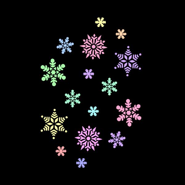 Pastel Snowflakes PNG Clip art