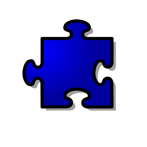 Jigsaw 4 Colors PNG Clip art