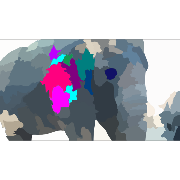 Elephant With Splash Of Color PNG Clip art