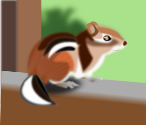 Cute Chipmunk clipart