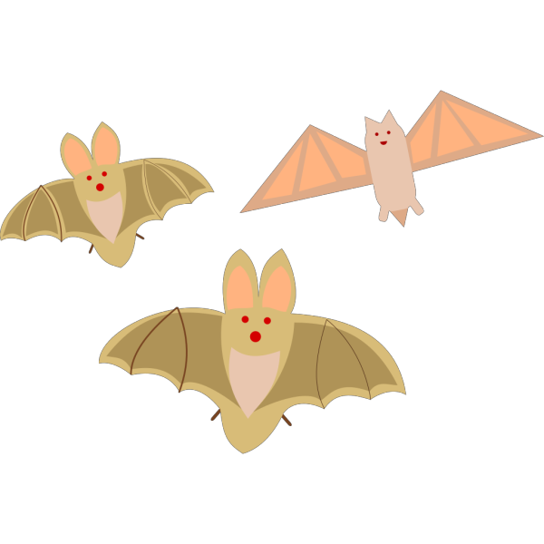 Three Different Bats PNG images