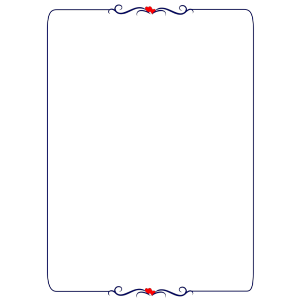 Red-heart-border PNG Clip art