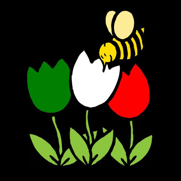 Italian Flowers Bee PNG Clip art