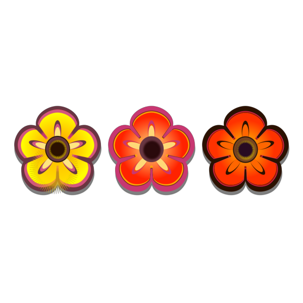 Colorful Flowers  PNG Clip art