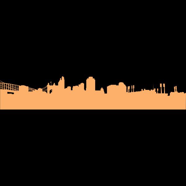 Big Cinci Skyline Orange PNG Clip art