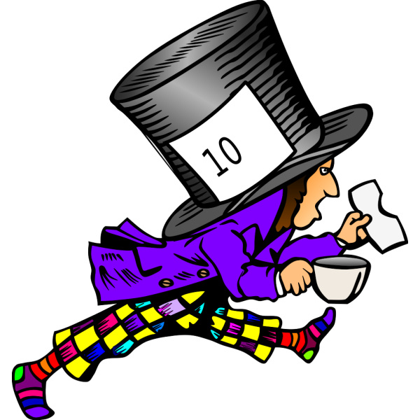 Mad Hatter Wild Colors PNG Clip art
