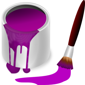 Purple Paint With Paint Brush PNG Clip art