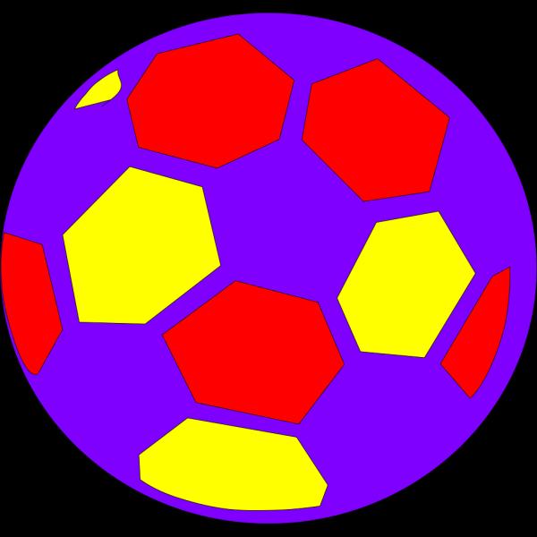 Multicolored Soccerball PNG Clip art