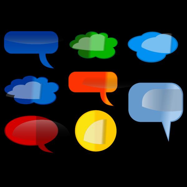 Speech-bubbles-colored PNG Clip art