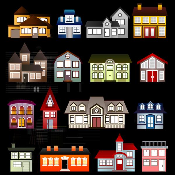 Houses PNG Clip art