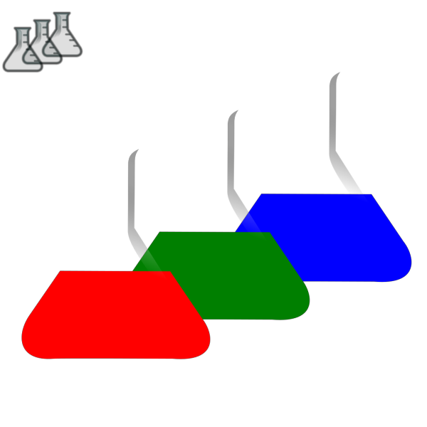 Colored Beakers PNG Clip art