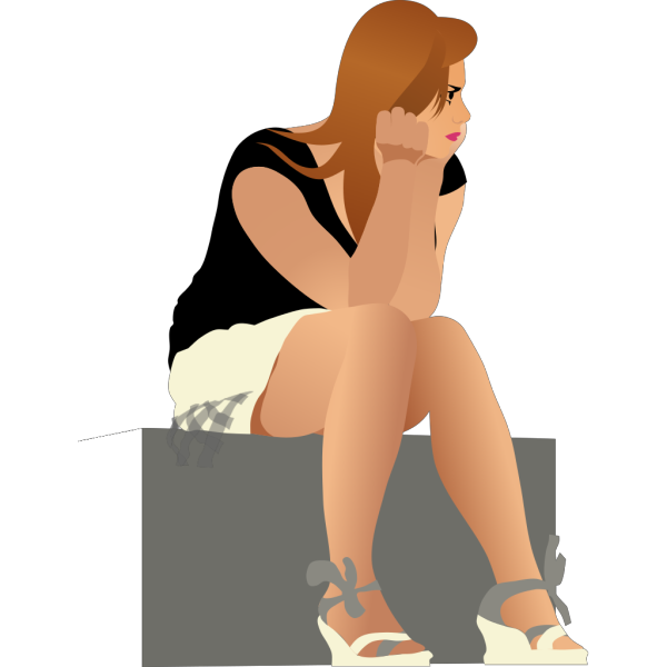 Girl Waiting PNG images