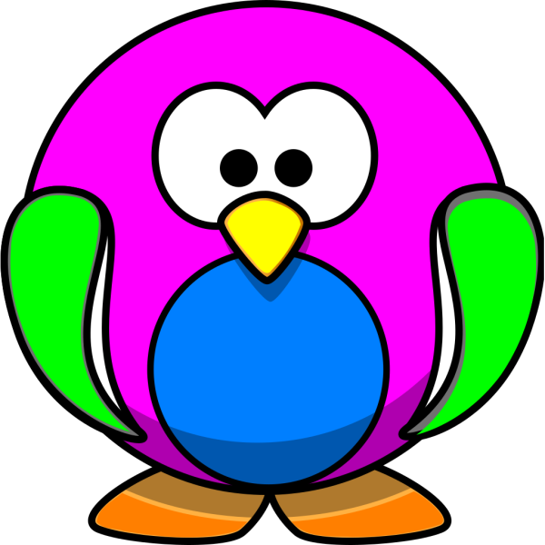 Rainbow Penguin PNG clipart