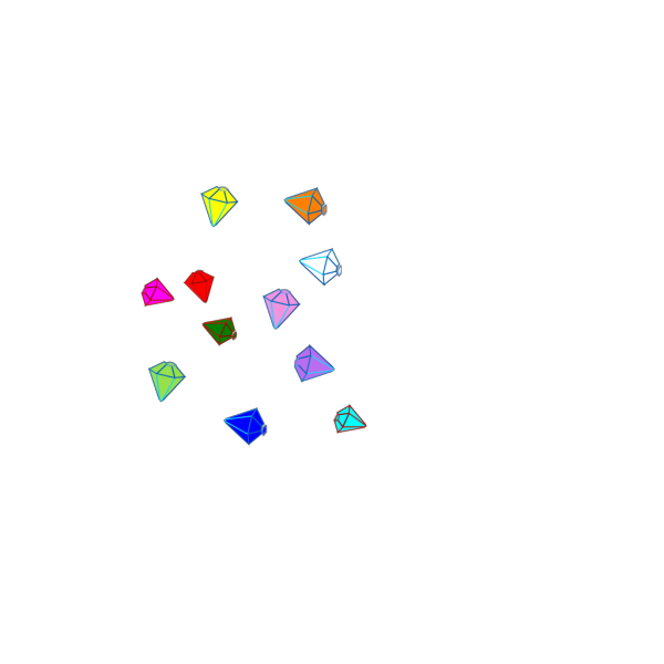 Scattered Gems PNG Clip art