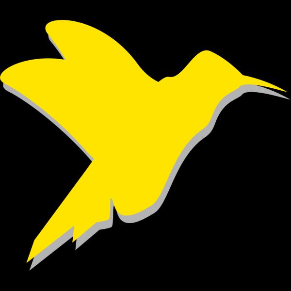 Yellow Hummingbird Silhouette PNG Clip art