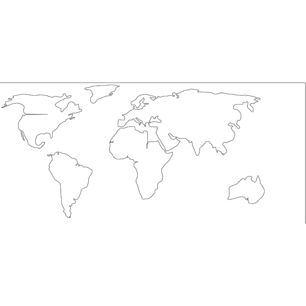Blank Map White Background PNG Clip art