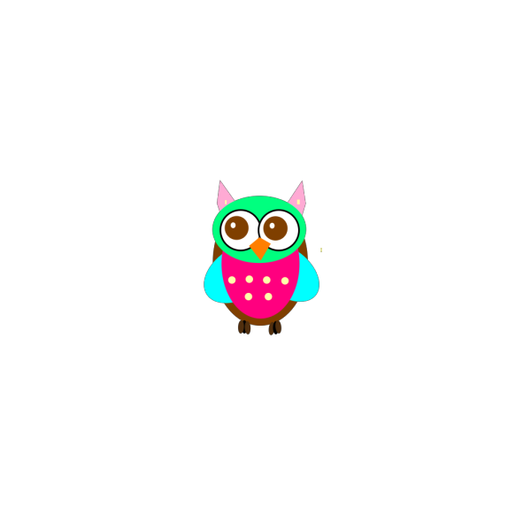 Colorful Baby Owl Chick PNG Clip art