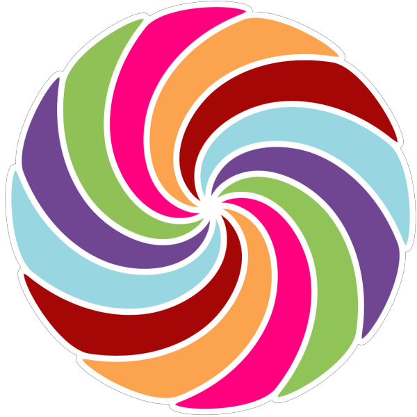 Pinwheel Multi Colored PNG Clip art