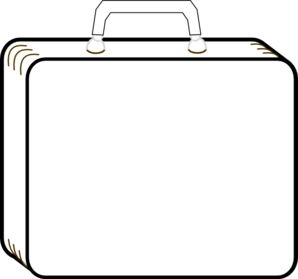 Colorless Suitcase PNG Clip art