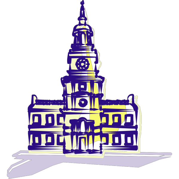 Independance Hall In Color PNG Clip art