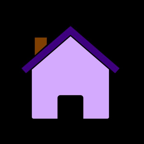 Little Purple House PNG Clip art