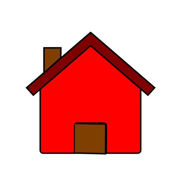 Little Red House PNG Clip art