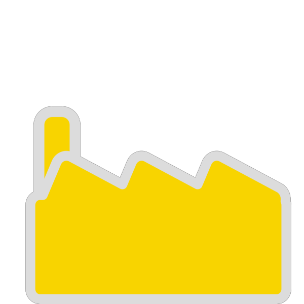 Yellow Factory Silhouette PNG Clip art