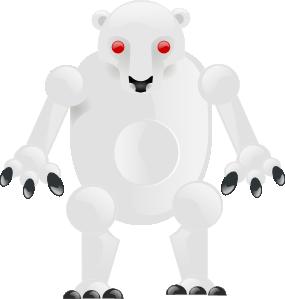 Metalic Bear PNG Clip art