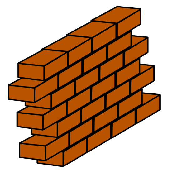 Orange Brick Wall PNG Clip art