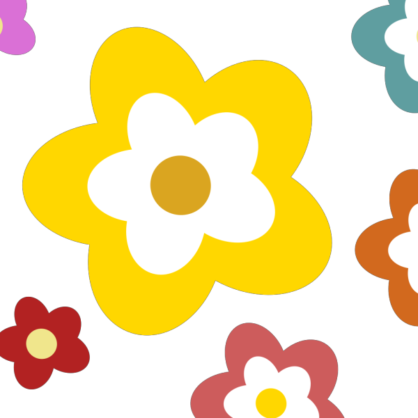 Flowers In Various Colors PNG Clip art