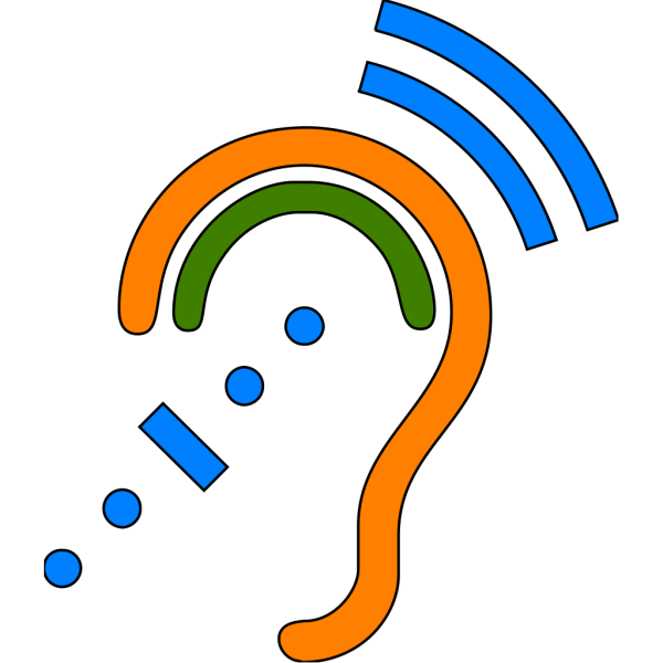 Hearing Assistive Technology - Blue Icon PNG Clip art