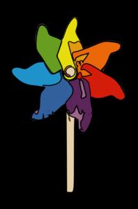 Rainbow Pinwheel PNG Clip art