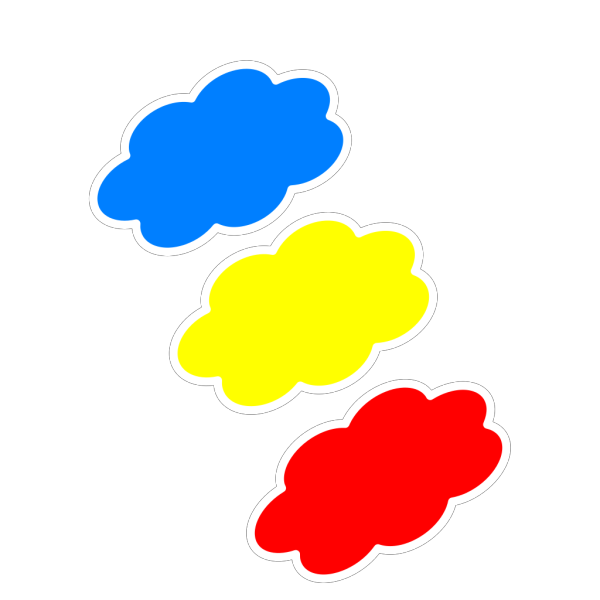 Colored Clouds PNG Clip art