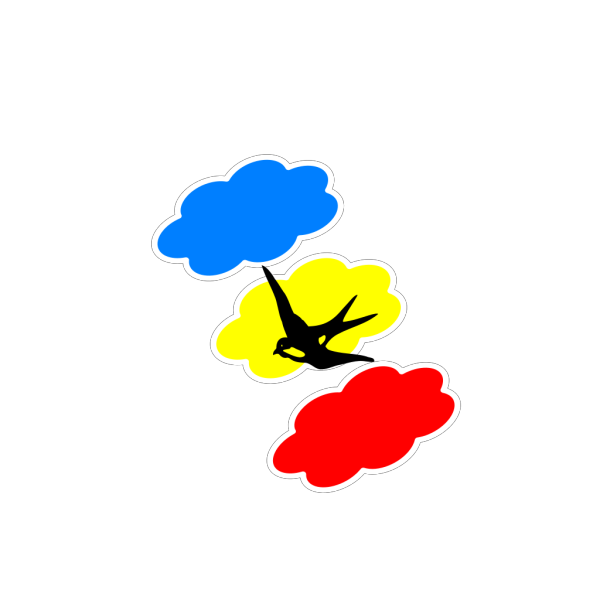 Colored Clouds Swallow PNG Clip art